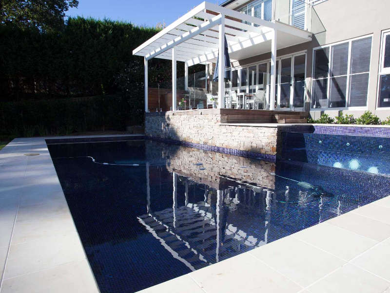 After After Pool Construction Interlink Pools and Landscapes