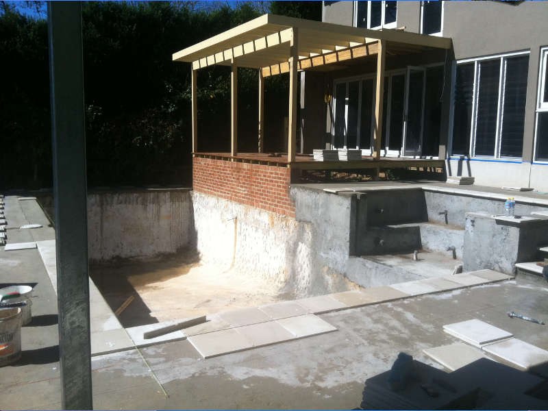 BEFORE POOL CONSTRUCTION Interlink Pools and Landscapes